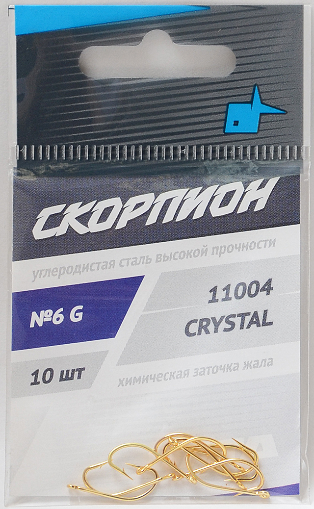 """Крючки """"Crystal"""" (Скорпион), №6"""