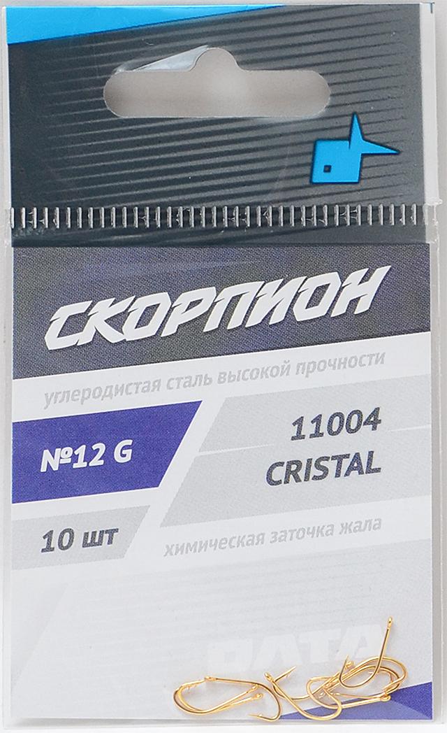 """Крючки """"Crystal"""" (Скорпион), №12"""