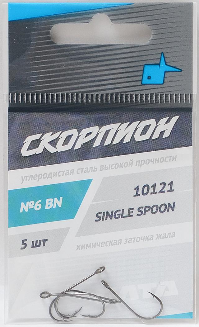 """Крючки """"Single Spoon"""" (Скорпион), №10"""