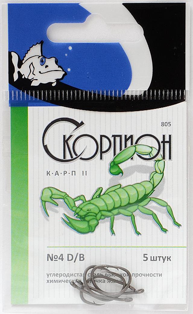 """Крючок """"Карп II"""" (Скорпион), N 4 D/B"""