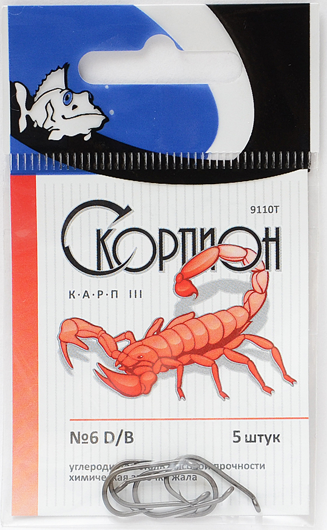 "Крючки ""Карп III"" (Скорпион), №6"