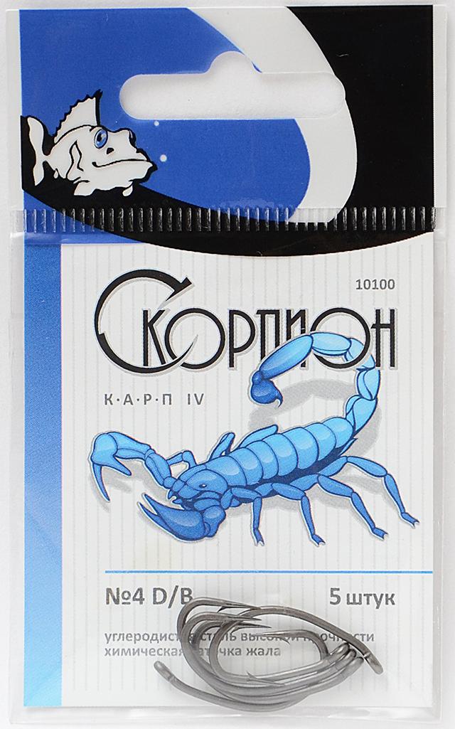 """Крючок """"Карп IV"""" (Скорпион), N 4 D/B"""