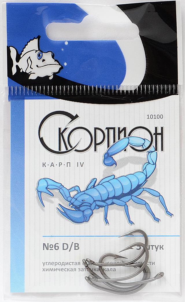 """Крючок """"Карп IV"""" (Скорпион), N 6 D/B"""