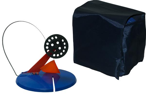 Набор жерлиц в сумке, 5шт, ф195мм, пластиковая стойка, катушка ф75мм