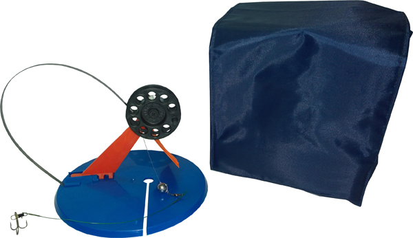 Набор оснащенных жерлиц в сумке, 5шт, ф195мм, пластиковая стойка, катушка ф63мм