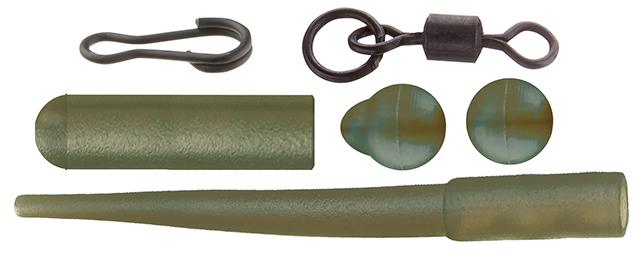 Набор (Cormoran): трубочка (8шт), бусина (5шт), вытянутая бусина (5шт), застежка (5шт), вертлюг с кольцом (5шт)