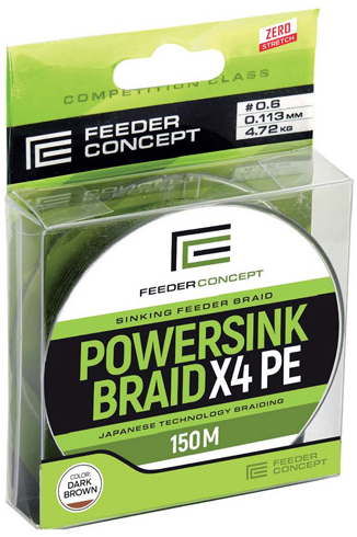 Шнур POWERSINK Braid X4 (Feeder Concept), 150м, 0.113мм