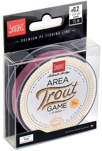 Шнур AREA TROUT Game (Lucky John), 75м, 0.112мм