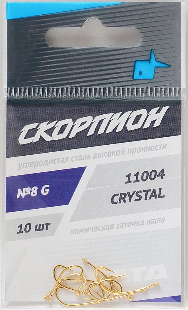 """Крючки """"Crystal"""" (Скорпион), №8"""