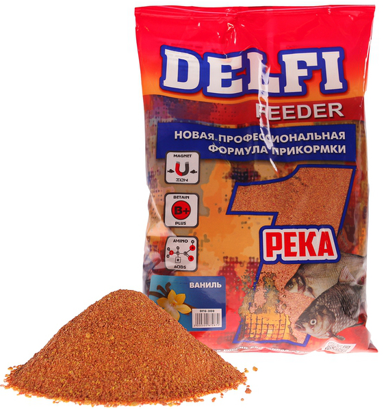 Прикорм FEEDER Река (Delfi), аромат ваниль