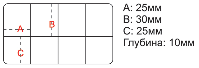 Коробочка для крючков H-382 (Рыболов), 102х62х13мм