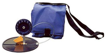 Набор жерлиц в сумке, 5шт, ф180мм, алюминиевая стойка, катушка ф75мм